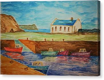 Ballintoy Series 1 Canvas Print by Paul Morgan