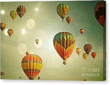 Balloon Colorful Sky Canvas Print by Andrea Hazel Ihlefeld