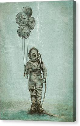 Balloon Fish Canvas Print by Eric Fan
