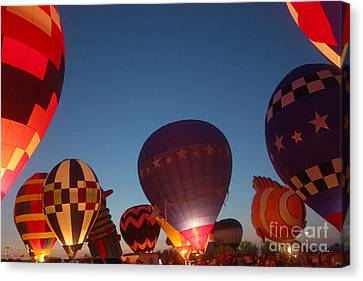 Balloon-glow-7808 Canvas Print by Gary Gingrich Galleries
