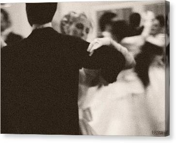 Ballroom Dancers Viennese Waltz Canvas Print by Beverly Brown Prints