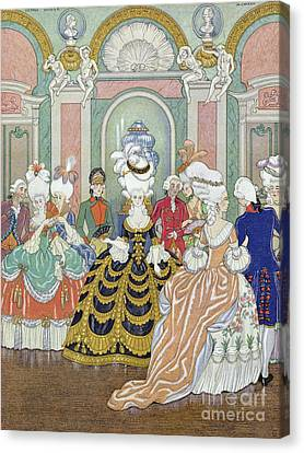 Ballroom Scene Canvas Print by Georges Barbier