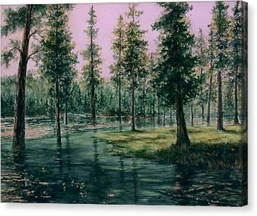 Balm Creek Reflections Canvas Print by Lynne Wright
