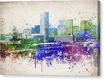 Baltimore City Skyline Canvas Print by Aged Pixel