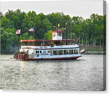 Bama Belle On The Black Warrior River Canvas Print by Ben Shields