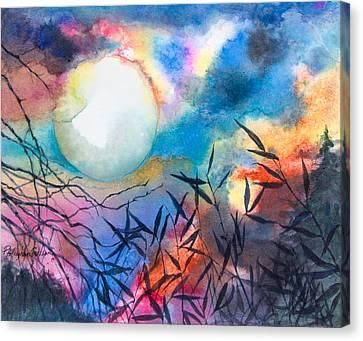 Bamboo Moon Canvas Print by Patricia Allingham Carlson