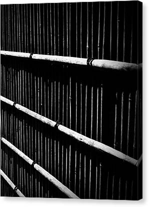 Bamboo Screen Canvas Print by Claire Carpenter