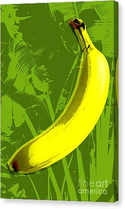 Banana Pop Art Canvas Print by Jean luc Comperat