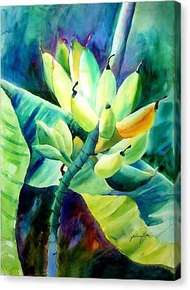Bananas 6-12-06 Julianne Felton Canvas Print by Julianne Felton