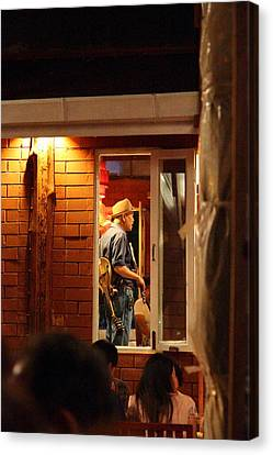 Band At Palaad Tawanron Restaurant - Chiang Mai Thailand - 01138 Canvas Print by DC Photographer