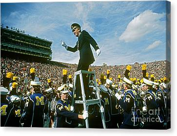 Band Director Canvas Print by James L. Amos
