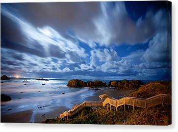 Bandon Nightlife Canvas Print by Darren  White