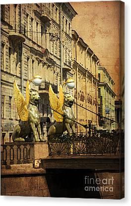 Bank Bridge Canvas Print by Elena Nosyreva