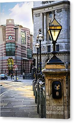Bank Station In London Canvas Print by Elena Elisseeva