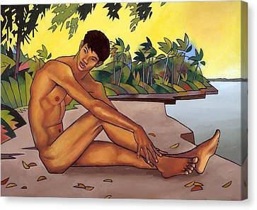 Banks Of The Mekong Canvas Print by Douglas Simonson