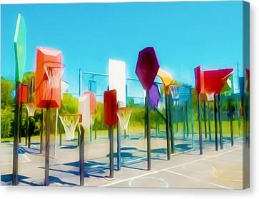 Bankshot Basketball 2 Canvas Print by Lanjee Chee