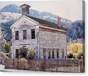 Bannack Masonic Hall Canvas Print by Kae Cheatham