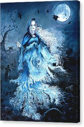 Banshee Canvas Print by Tomas OMaoldomhnaigh