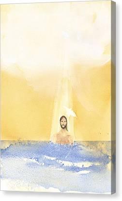 Baptism Canvas Print by John Meng-Frecker