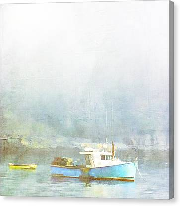 Down East Canvas Print featuring the photograph Bar Harbor Maine Foggy Morning by Carol Leigh