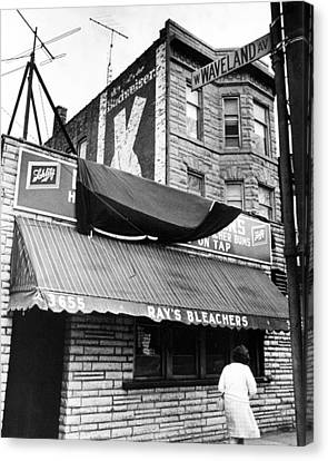 Bar Outside Wrigley  Canvas Print by Retro Images Archive