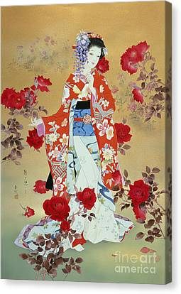 Bara Canvas Print by Haruyo Morita