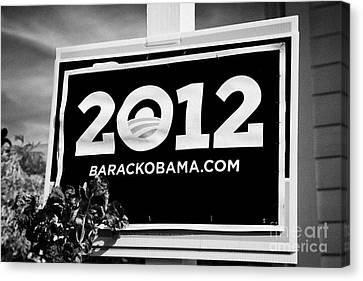 Barack Obama 2012 Us Presidential Election Poster Florida Usa Canvas Print by Joe Fox