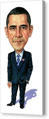 Barack Obama Canvas Print by Art