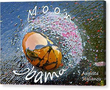 Barack Obama Moon Canvas Print by Augusta Stylianou