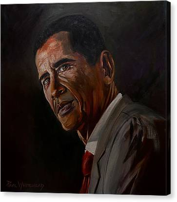 Barak Obama Canvas Print by Paul Whitehead