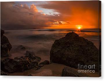 Barbados Sunset Canvas Print by Matt  Trimble