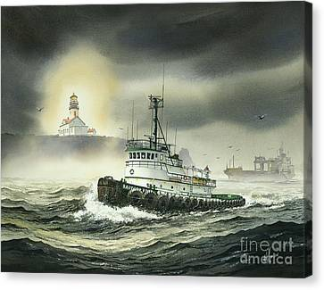 Barbara Foss Canvas Print by James Williamson