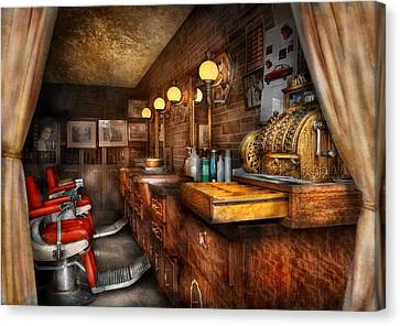 Barber - Closed On Sundays Canvas Print by Mike Savad