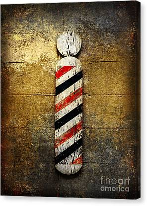 Barber Pole Canvas Print by Andee Design