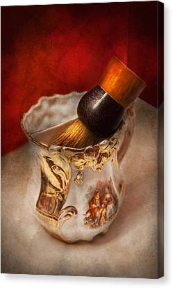 Barber - Shaving - The Beauty Of Barbering Canvas Print by Mike Savad