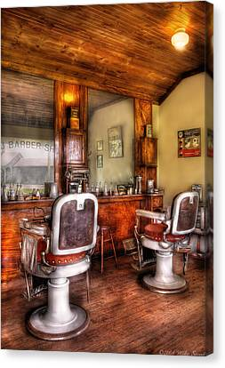 Barber - The Barber Shop II Canvas Print by Mike Savad