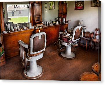 Barber - The Hair Stylist Canvas Print by Mike Savad