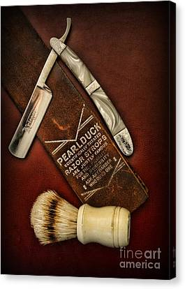 Barber - Tools For A Close Shave  Canvas Print by Paul Ward