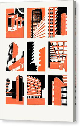 Barbican Canvas Print by Eliza Southwood