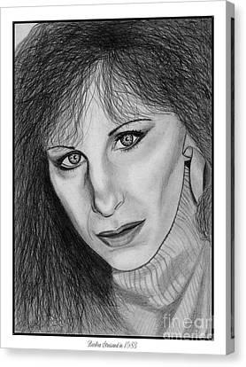 Barbra Streisand In 1983 Canvas Print by J McCombie
