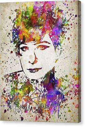 Barbra Streisand In Color Canvas Print by Aged Pixel