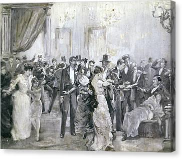 Barcelona Bombing, 1893 Canvas Print by Granger