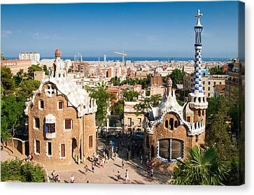 Barcelona Park Guell Antoni Gaudi Canvas Print by Matthias Hauser
