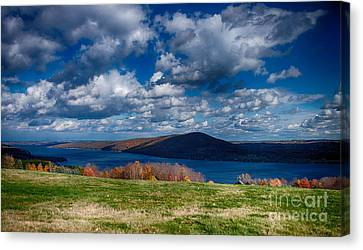Bare Hill Along Canandaigua Lake Canvas Print by Steve Clough
