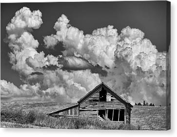 Barn And Clouds Canvas Print by Latah Trail Foundation