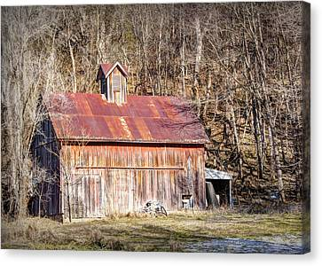 Barn By The Bluffs Canvas Print by Cricket Hackmann