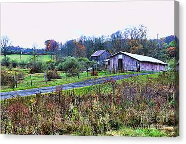 Barn - End Of The Road Canvas Print by Paul Ward