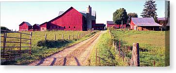 Barn In A Field, Pennsylvania Dutch Canvas Print by Panoramic Images