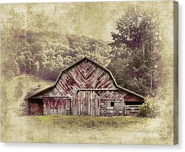 Barn In The Blue Ridge Canvas Print by Dan Carmichael