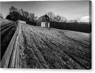 Barn On A Hill Canvas Print by Sven Brogren